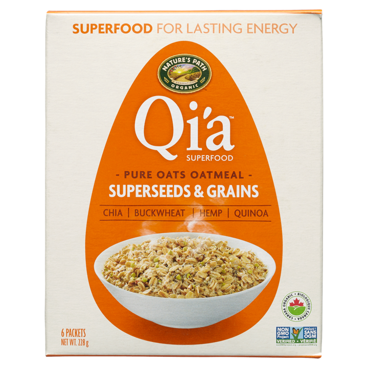 Qi'a Oatmeal - Superseed & Grains - 6 x 38 g